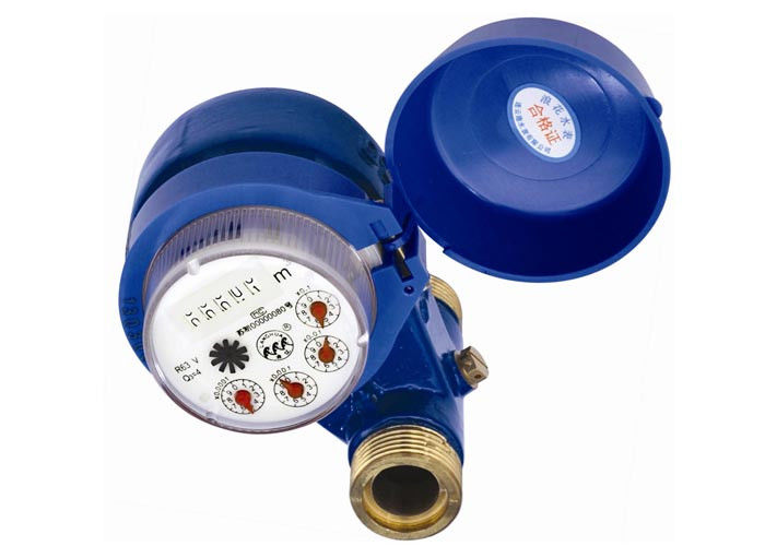 Mechanical Drive Multijet Water Meter , Fully Sealed Runner For Cold Water DN25 Brass