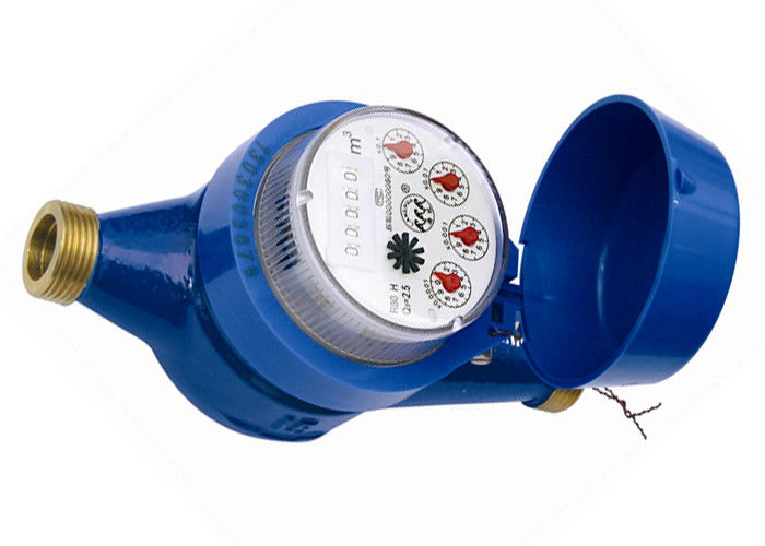 Blue Magnetic Vane Wheel Water Meter / Dry Dial Hot Water Meter DN50