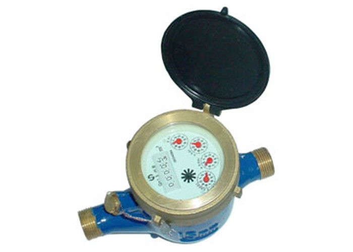 Brass multi jet water meter for cold water volumetric measurement DN25 Dry dial