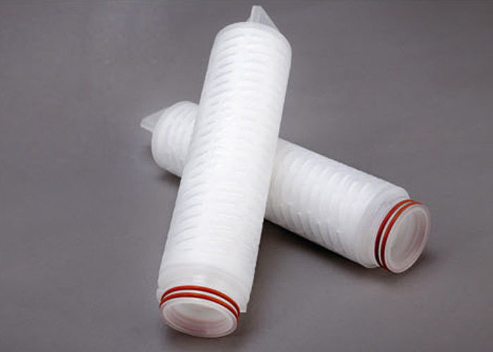 Polypropylene Absolute Cartridge Filter Vessels Micro Fiber Membrane Pleated For Beer Filtration