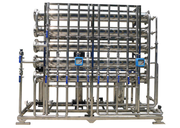 Stainless steel 2 stage RO Water treatment  Horizontal for ultra pure water 4 m3 / day 24000GPD