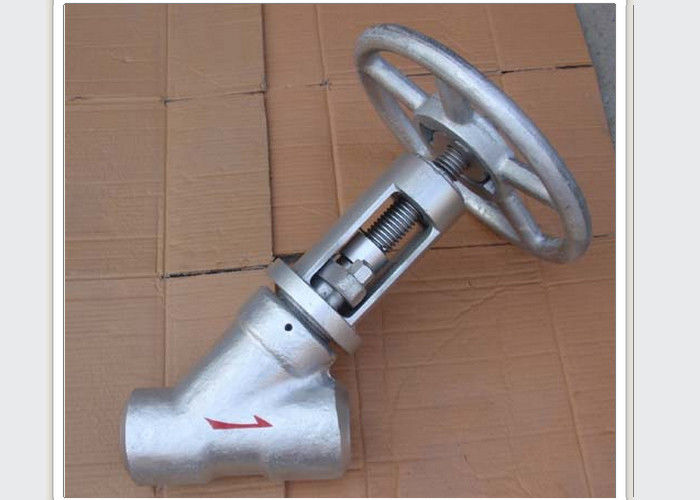 Metal Y type GAS stop valve Forged steel Direct flow  SS304 , 316